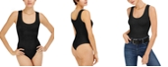 Bar III Seamless Scoop-Neck Thong Bodysuit, Created for Macy's