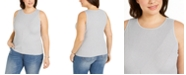 INC International Concepts INC Plus Size Ribbed Tank Top, Created for Macy's