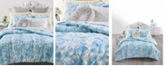 Martha Stewart Collection CLOSEOUT! Pleated Tie Dye 2-Pc. Twin/Twin XL Comforter Set, Created for Macy's