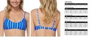 Raisins Juniors' Shore Thing Laguna Striped Bikini Top