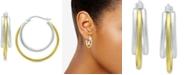 Giani Bernini Small Two-Tone Triple Hoop Earrings, 20mm, Created for Macy's