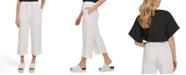 DKNY Linen Wide-Leg Pants