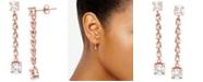 Giani Bernini Cubic Zirconia Linear Drop Earrings, Created for Macy's