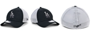 New Era Men's Los Angeles Dodgers Black White Gradient Trucker 39THIRTY Cap