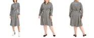 Alfani Plus Size Houndstooth-Print Midi Dress, Created for Macy's