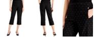 JM Collection Foil-Print Tummy-Control Capri Pants, Created for Macy's