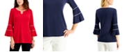 JM Collection Embellished Bell-Sleeve Top, Created for Macy's