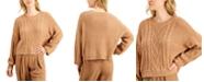 Sun + Moon Cable-Knit Balloon-Sleeve Sweater