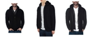 X-Ray  Men's Full-Zip Sweater Jacket with Fluffy Fleece Lined Hood