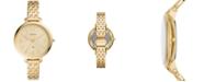 Fossil Women's Monroe Gold-Tone Bracelet Watch 38mm