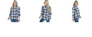 Lids UG Apparel Notre Dame Fighting Irish Women's Flannel Boyfriend Plaid Button Up Shirt