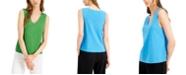 Alfani V-Neck Sleeveless Top, Created for Macy's