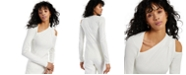 INC International Concepts INC Asymmetrical Cold-Shoulder Sweater, Created for Macy's