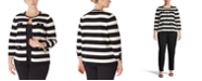 Anne Klein Plus Size Striped Cardigan
