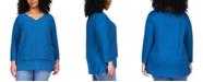 Michael Kors Plus Size Layered-Hem Top