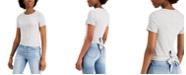 Self Esteem Juniors' Tie-Back Striped Top