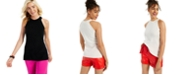 Charter Club Cashmere Sleeveless Solid Halter Top, Created for Macy's