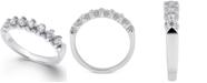Macy's Certified Diamond Scalloped Ring (1/2 ct. t.w.) in 14k White Gold