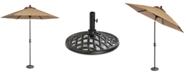 Furniture Beachmont II Outdoor 9' Auto-Tilt Patio Umbrella & Base
