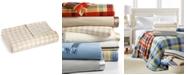 Martha Stewart Collection CLOSEOUT! Soft Fleece King Blanket, Prints