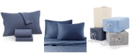 JLA Home Heathered Cotton Jersey 3-Pc. Solid Twin Sheet Set