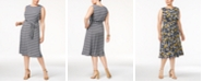 Charter Club Plus Size Printed Dress, Created for Macy's