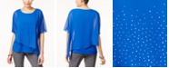 JM Collection Petite Embellished Asymmetrical-Hem Top, Created for Macy's