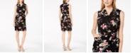 Calvin Klein Petite Belted Floral-Print Wrap Dress