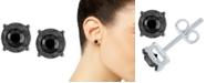 Macy's Black Diamond (1/2 ct. t.w.) Stud Earrings in Sterling Silver