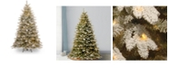 National Tree Company 7 .5'Feel Real(R)Snowy Sierra Spruce Hinged Tree with 750 Clear Lights