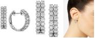 Macy's Diamond Double Row Hoop Earrings (2 ct. t.w.) in 14k White Gold