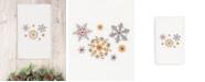 Linum Home CLOSEOUT!  Christmas Snowfall 100% Turkish Cotton Hand Towel
