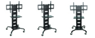 """Clickhere2shop OF-WPSMS51 - 51"""" Mobile TV Stand Flat Panel with Mount - Black"""