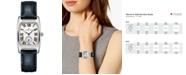 Hamilton Women's Swiss Boulton Blue Leather Strap Watch 27.3x31.1mm