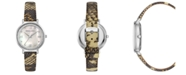 BCBGMAXAZRIA Ladies Printed Leather Strap Watch with Light MOP Dial, 33mm