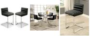 Furniture of America Vova Black Counter Stool (Set of 2)