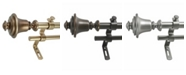 Decopolitan Montevilla Bell Double Telescoping Curtain Rod Set Collection