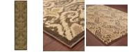 "Oriental Weavers CLOSEOUT!  Casablanca 4464A Green/Ivory 1'10"" x 7'6"" Runner Area Rug"