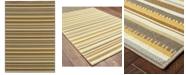 """Oriental Weavers Bali 1001J Gray/Gold 3'7"""" x 5'6"""" Indoor/Outdoor Area Rug"""