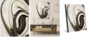 "Creative Gallery Howlite and Onyx Abstract 16"" x 20"" Acrylic Wall Art Print"
