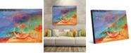 "Creative Gallery Hazy Vermillion Buddha Colorful Abstract 20"" x 24"" Acrylic Wall Art Print"