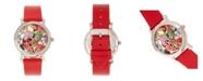 Bertha Quartz Vanessa Red Genuine Leather Watch, 36mm