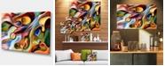"""Design Art Designart Music Beyond The Frames Music Canvas Art Print - 32"""" X 16"""""""