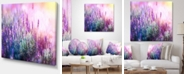 """Design Art Designart Growing And Blooming Lavender Floral Canvas Art Print - 40"""" X 30"""""""