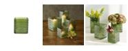 Design Ideas Greenwich Vase, Herringbone, Large