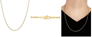 "Macy's Glitter Rope 24"" Chain Necklace in 14k Gold"