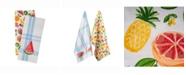 Design Imports Asset Fruity Slice Print Dishtowel Set of 2
