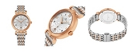 Stuhrling Alexander Watch A202B-03, Ladies Quartz Small-Second Date Watch with Rose Gold Tone Stainless Steel Case on Rose Gold Tone Stainless Steel Bracelet