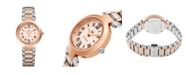 Stuhrling Alexander Watch A203B-04, Ladies Quartz Date Watch with Rose Gold Tone Stainless Steel Case on Rose Gold Tone Stainless Steel Bracelet