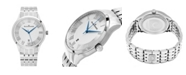 Stuhrling Alexander Watch A103B-01, Stainless Steel Case on Stainless Steel Bracelet